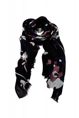 Esarfa din lana cu imprimeu floral Massimo Dutti