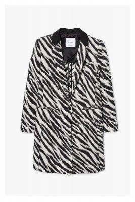 Palton cu imprimeu zebra Mango 449,90 Lei