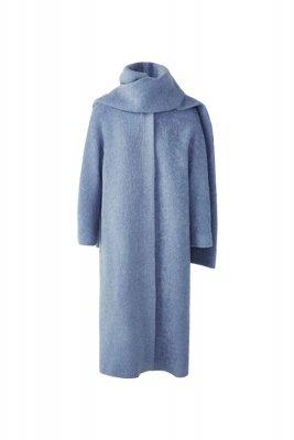 Palton de lana cu fular detasabil Massimo Dutti 1.699,00 Lei