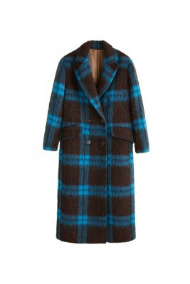 Palton de lana in carouri, Mango