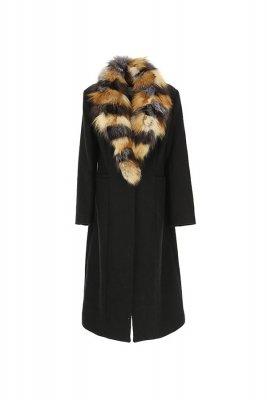 Palton din lana cu guler de blana, Silvian Heach - glami.ro, 1.090,00 Lei