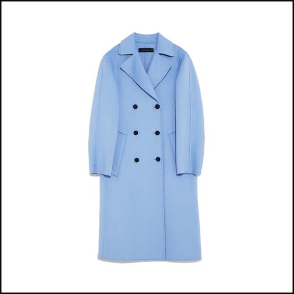 Palton petrecut din lana Zara
