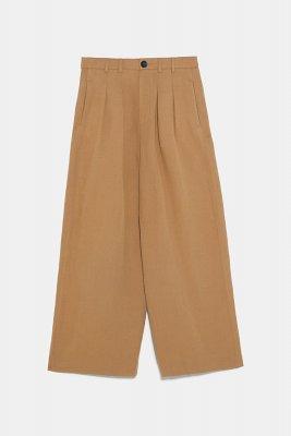Zara Pantaloni largi cu pense 149,90 Lei
